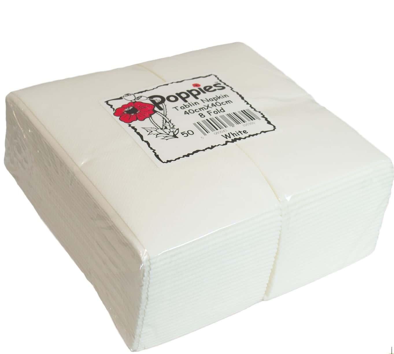 40x40 Cm Airlaid White Napkin Irish Distributors