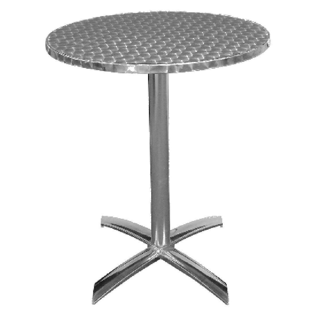 stainless steel flip top bistro table round or square. Black Bedroom Furniture Sets. Home Design Ideas