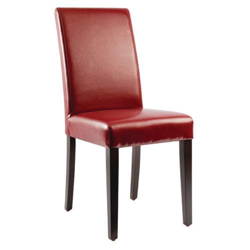 Bolero Faux Leather Dining Chair Black Box 2 Irish
