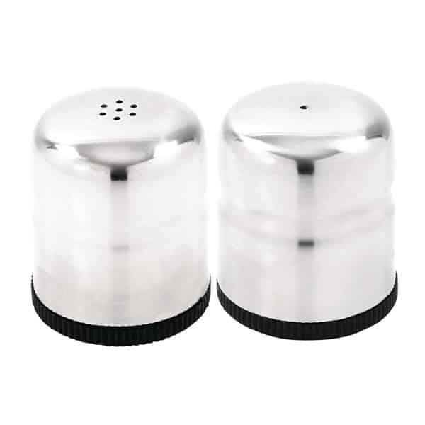 Mini Salt & Pepper Shaker Set St/St